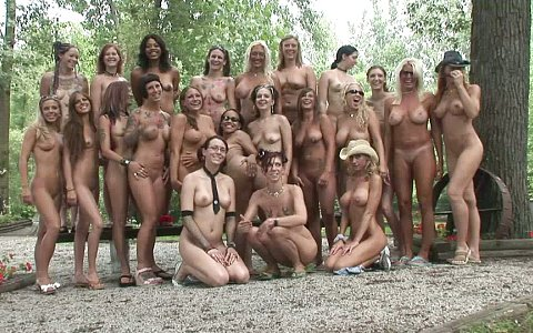 Group Of Massive Breasted Amateurs Gather For A Hot Softcore Shoot Outdoors