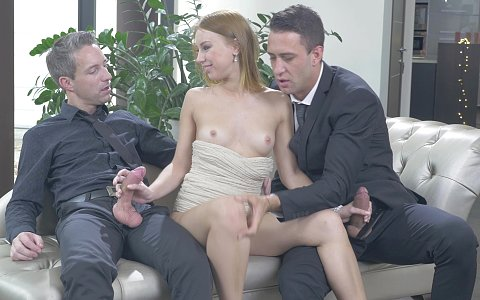 Kira Thorn takes two cocks in her holes in the glamorous hardcore fuck