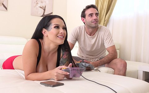 Katrina Jade loses a video game to her stepbro and fucks him in return!