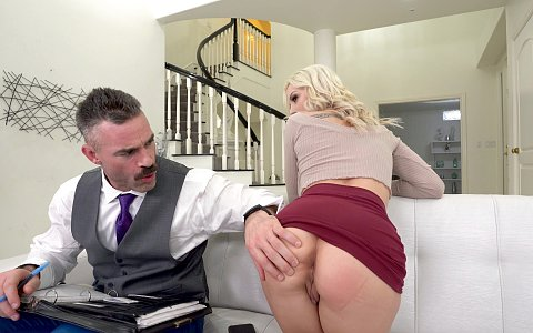 Kenzie Taylor is getting divorced and hired a paralegal to fuck her