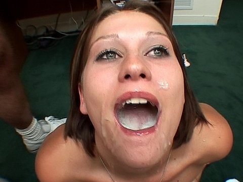 Astrid mouthful of cum